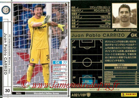 2015-16 - Panini WCCF - N° A021 - Juan Pablo CARRIZO (FC Inter Milan)