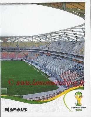 2014 - Panini FIFA World Cup Brazil Stickers - N° 019 - Arena Amazonia - Manaus (2)