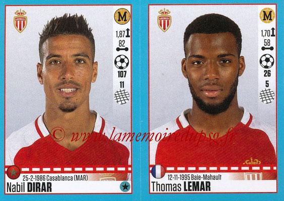 2016-17 - Panini Ligue 1 Stickers - N° 496 + 497 - Nabil DIRAR + Thomas LEMAR (Monaco)
