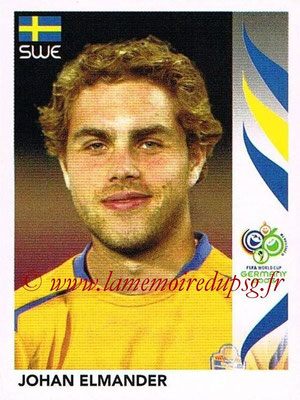 2006 - Panini FIFA World Cup Germany Stickers - N° 164 - Johan ELMANDER (Suède)