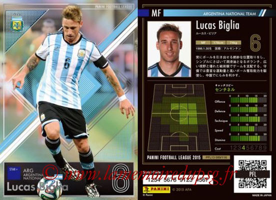 Panini Football League 2015 - PFL13 - N° 089 - Lucas BIGLIA (Argentine) (Star +)
