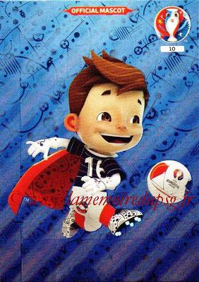 Panini Euro 2016 Cards - N° 010 - Mascotte UEFA Euro 2016