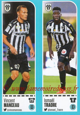 2016-17 - Panini Ligue 1 Stickers - N° 010 + 011 - Vincent MANCEAU + Ismaël TRAORE (Angers)