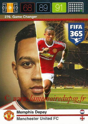 2015-16 - Panini Adrenalyn XL FIFA 365 - N° 276 - Memphis DEPAY (Manchester United FC) (Game Changer)