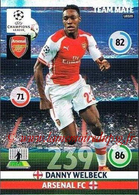 2014-15 - Adrenalyn XL champions League Update edition N° UE020 - Danny WELBECK (Arsenal)