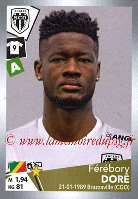 2017-18 - Panini Ligue 1 Stickers - N° T05 - Férébory DORE (Angers) (Transfert)