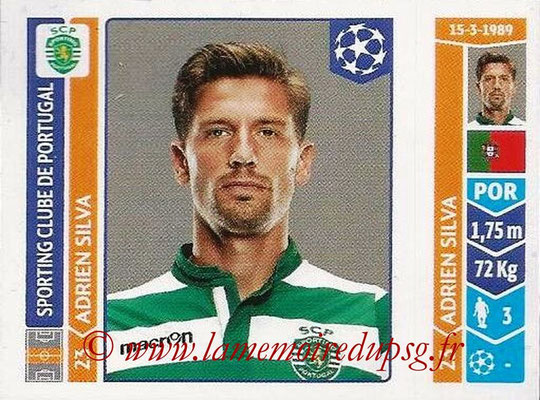 2014-15 - Panini Champions League N° 532 - Adrien SILVA (Sporting Club de Portugal)