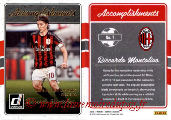 2016 - Panini Donruss Cards - N° A01 - Riccardo MONTOLIVO (AC Milan) (Accomplishments)