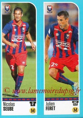2016-17 - Panini Ligue 1 Stickers - N° 140 + 141 - Nicolas SEUBE + Julien FERET (Caen)