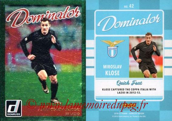 2016 - Panini Donruss Cards - N° D42 - Miroslav KLOSE (SS Lazio) (Dominator)