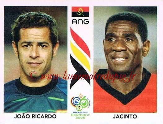 2006 - Panini FIFA World Cup Germany Stickers - N° 303 - Joao RICARDO + JACINTO (Angola)