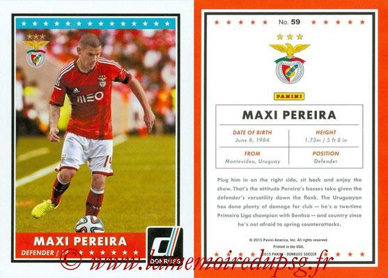 2015 - Panini Donruss Soccer - N° 059 - Maxi PEREIRA (SL Benfica)