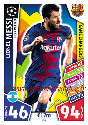 2017-18 - Topps UEFA Champions League Match Attax - N° GC02 - Lionel MESSI (FC Barcelone) (Game Changers)