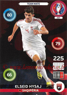 Panini Euro 2016 Cards - N° 337 - Elseid HYSAJ (Albanie)