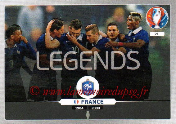 Panini Euro 2016 Cards - N° 021 - Equipe France (Legends)