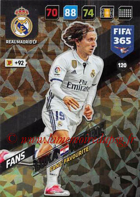 2017-18 - Panini FIFA 365 Cards - N° 120 - Luka MODRIC (Real Madrid CF) (Fans' Favourite)