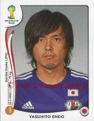 2014 - Panini FIFA World Cup Brazil Stickers - N° 251 - Yasuhito ENDO (Japon)