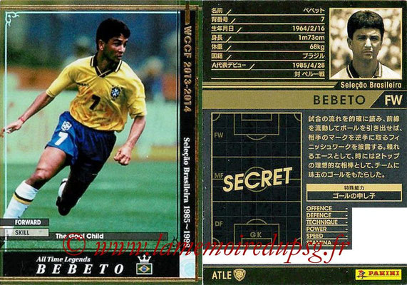2013-14 - WCCF - N° ATLE18 - BEBETO (Brésil) (All Time Legend)