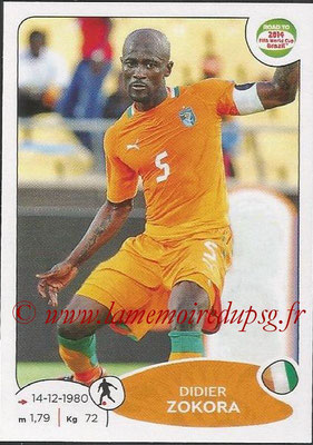 2014 - Panini Road to FIFA World Cup Brazil Stickers - N° 392 - Didier ZOKORA (Côte d'Ivoire)