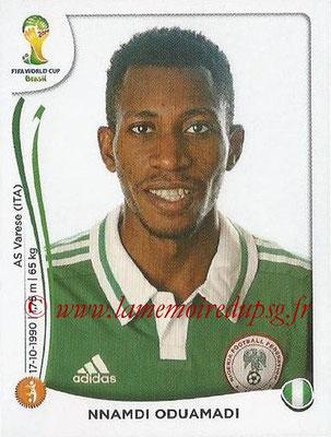 2014 - Panini FIFA World Cup Brazil Stickers - N° 483 - Nnamdi ODUAMADI (Nigéria)