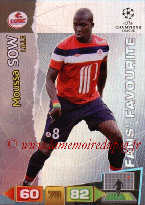 2011-12 - Panini Champions League Cards - N° 309 - Moussa SOW (Lille) (Fans' Favourite)
