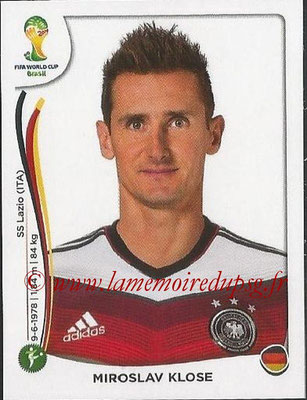 2014 - Panini FIFA World Cup Brazil Stickers - N° 506 - Miroslav KLOSE (Allemagne)