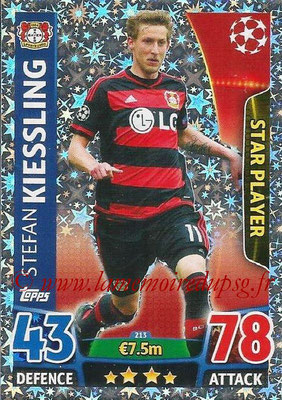 2015-16 - Topps UEFA Champions League Match Attax - N° 213 - Stefan KIESSLING (Bayer 04 Leverkusen) (Star Player)