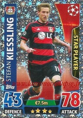 2015-16 - Topps UEFA Champions League Match Attax - N° 213 - Stefan KIESSLING (Bayer 04 Leverkusen) (Star Player)