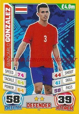 Topps Match Attax England 2014 - N° 064 - Giancarlo GONZALEZ (Costa Rica)