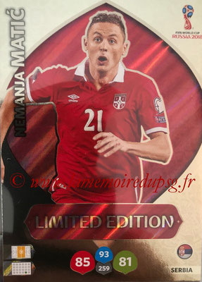 2018 - Panini FIFA World Cup Russia Adrenalyn XL - N° LE-NM - Nemanja MATIC (Serbie) (Limited Edition)