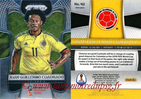 2018 - Panini Prizm FIFA World Cup Russia - N° 042 - Juan Guillermo CUADRADO (Colombie)