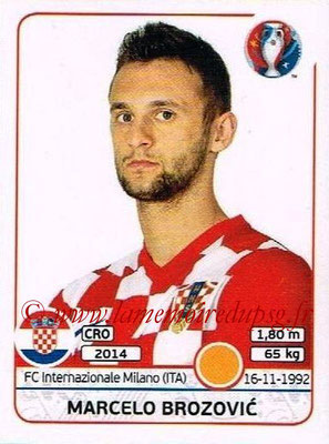 Panini Euro 2016 Stickers - N° 446 - Marcelo BROZOVIC (Croatie)