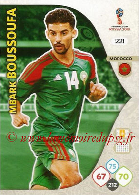 2018 - Panini FIFA World Cup Russia Adrenalyn XL - N° 221 - Mbark BOUSSOUFA (Maroc)