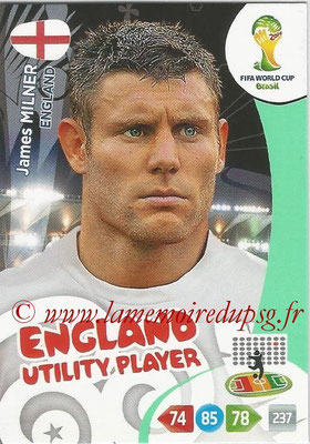 2014 - Panini FIFA World Cup Brazil Adrenalyn XL - N° 135 - James MILNER (Angleterre) (Utility Player)