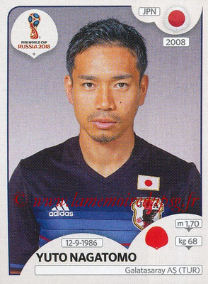 2018 - Panini FIFA World Cup Russia Stickers - N° 657 - Yuto NAGATOMO (Japon)