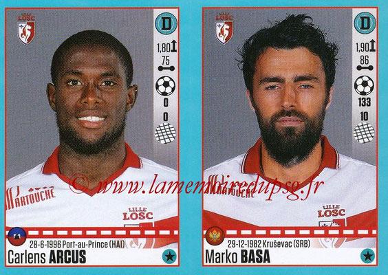 2016-17 - Panini Ligue 1 Stickers - N° 274 + 275 - Carlens ARCUS + Marka BASA (Lille)