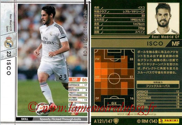 2014-15 - WCCF - N° A121 - ISCO (Real Madrid  CF)