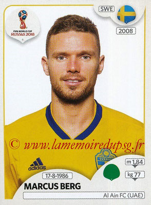 2018 - Panini FIFA World Cup Russia Stickers - N° 489 - Marcus BERG (Suede)