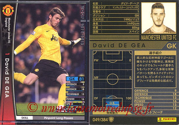 2012-13 - WCCF - N° 049 - David DE GEA (Manchester United FC)