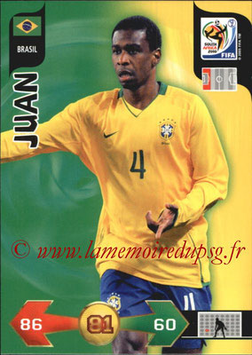 2010 - Panini FIFA World Cup South Africa Adrenalyn XL - N° 038 - JUAN (Bresil)
