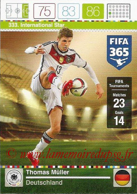 2015-16 - Panini Adrenalyn XL FIFA 365 - N° 333 - Thomas MÜLLER (Allemagne) (International Star)