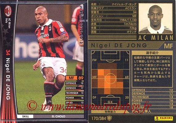 2012-13 - WCCF - N° 170 - Nigel DE JONG (Milan AC)