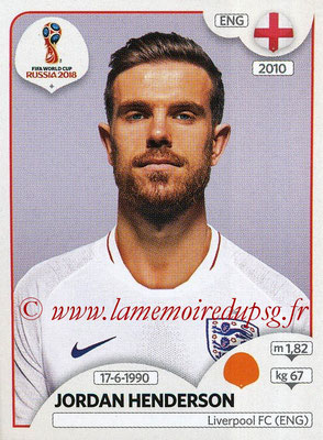 2018 - Panini FIFA World Cup Russia Stickers - N° 582 - Jordan HENDERSON (Angleterre)