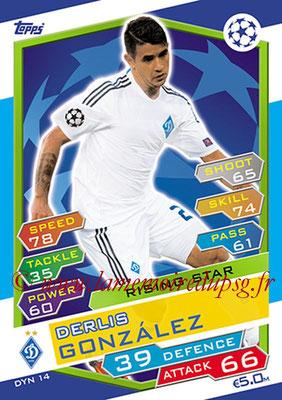 2016-17 - Topps UEFA Champions League Match Attax - N° DYN14 - Derlis GONZALEZ (FC Dynamo Kiev) (Rising Star)