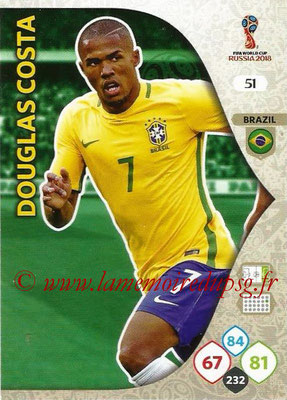 2018 - Panini FIFA World Cup Russia Adrenalyn XL - N° 051 - Douglas COSTA (Brésil)