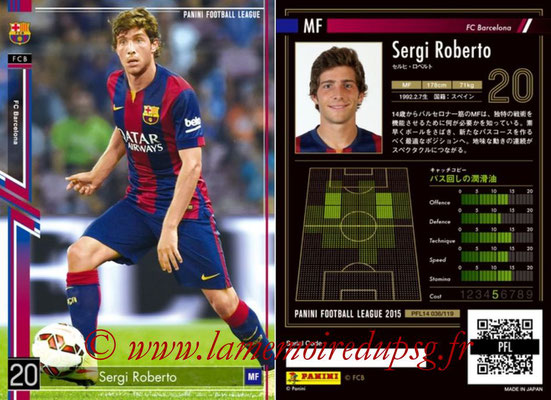 Panini Football League 2015 - PFL14 - N° 036 - Sergi ROBERTO (FC Barcelone)