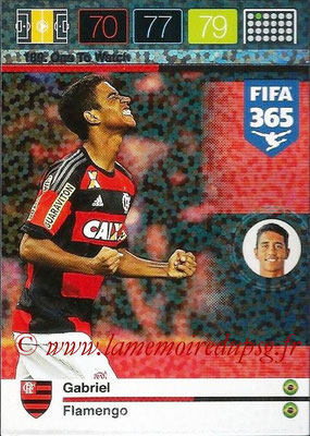 2015-16 - Panini Adrenalyn XL FIFA 365 - N° 189 - GABRIEL (Flamengo) (One to Watch)