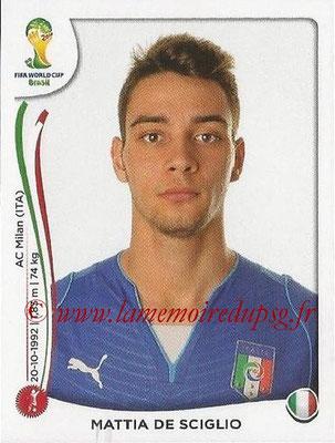 2014 - Panini FIFA World Cup Brazil Stickers - N° 324 - Mattia DE SCIGLIO (Italie)