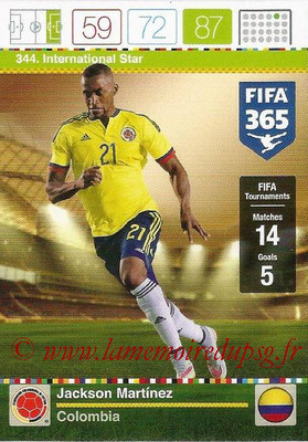 2015-16 - Panini Adrenalyn XL FIFA 365 - N° 344 - Jackson MARTINEZ (Colombie) (International Star)