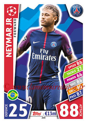 2017-18 - Topps UEFA Champions League Match Attax - N° 268 - NEYMAR Jr (Paris Saint-Germain)